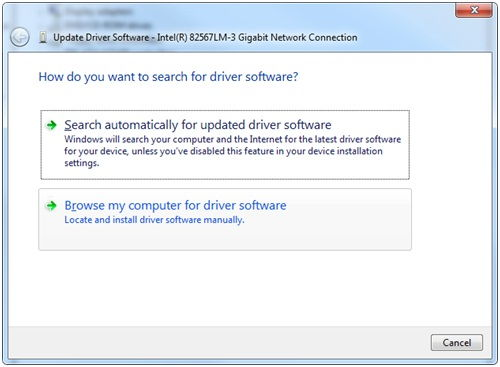 browse computer for driver
