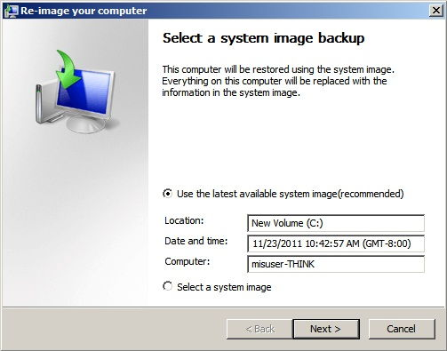 windows image backup