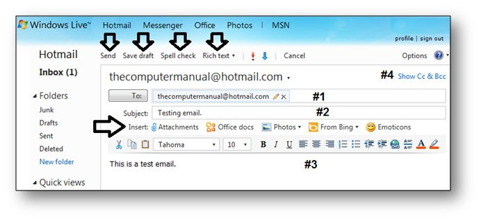 compose new email, create email