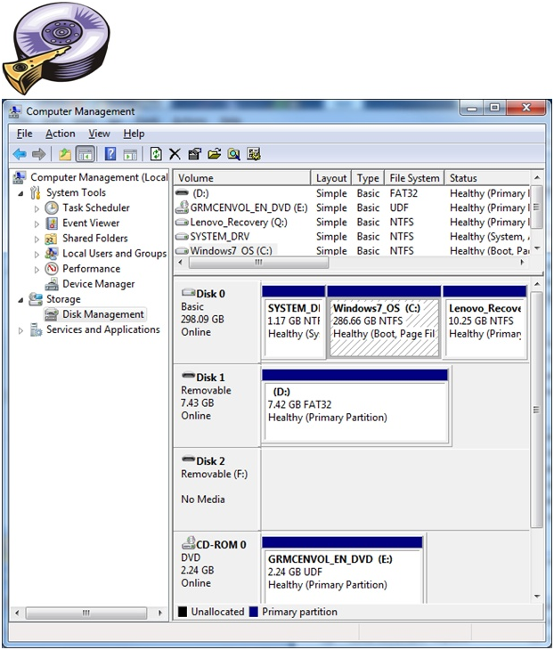 disk management, partiton management, windows partitions