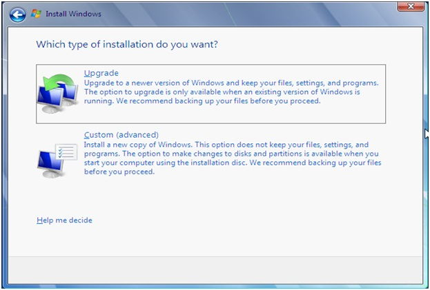 windows 7 custom installation