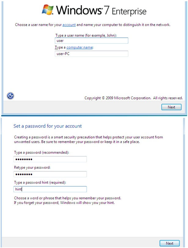 windos 7 account setup, windows 7 user setup, windows 7 user profile setup