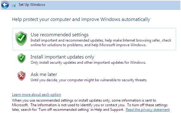 windows 7 update setup, windows 7 update, windows update